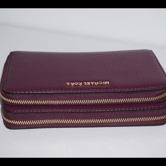 a1cfa2c8ddf6 Michael Kors plum Adele wallet