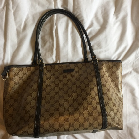 bb5816407139 Gucci Bags   Joy Crystal Coated Canvas Tote Bag   Poshmark