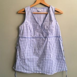 Motherhood Maternity Tops - Gingham checkered maternity tank