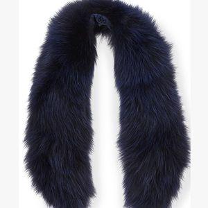 Alice + Olivia Izzy fox fur collar