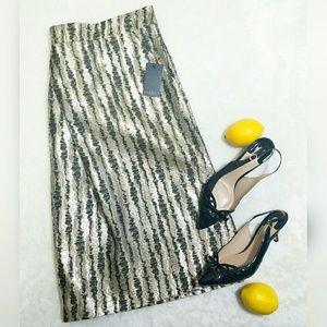 Eloquii Dresses & Skirts - New Eloquii Metallic Pleated Flare Mini Skirt M1