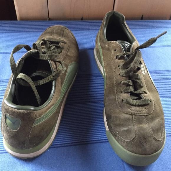 Puma Shoes | Puma Roma Mens Olive Suede