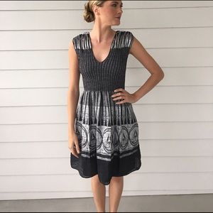 Navy blue and silver dress