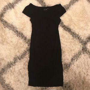 ASOS TALL black midi dress