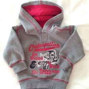 Caterpillar Other - CAT 3t hooded sweatshirt grey/red