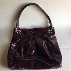 Coach Handbags - Authentic Coach Patent Leather Plum color Purse