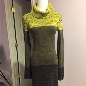 Loose turtle neck sweater dress