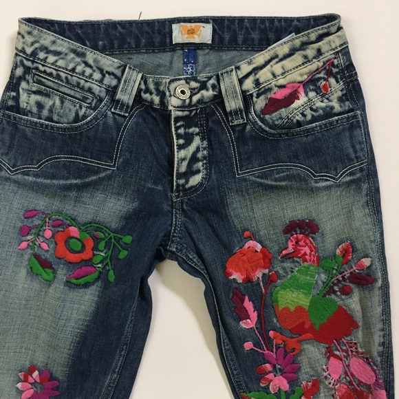 Antik Batik - Antik Denim Embroidered Jeans Flare Floral Style ...