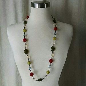 Multi colored bead necklace