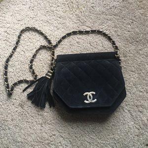CHANEL Handbags - Chanel authentic velvet cushioned handbag