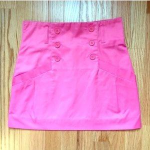 H&M Hot Pink Vinyl Mini Skirt