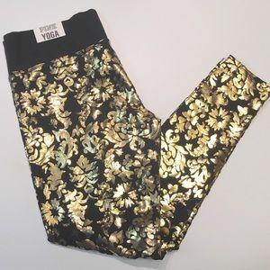 PINK Victoria's Secret Pants - PINK Yoga Pants Gold Foil Victoria's Secret