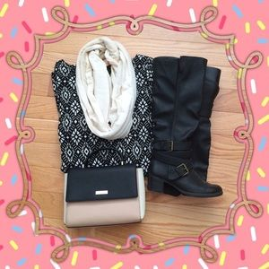 Shoes - Black Buckle Boots