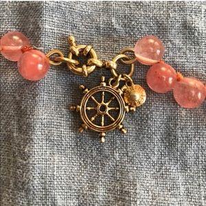 J. Crew Jewelry - J Crew pink glass beads necklace