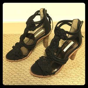 Cynthia Vincent black heeled sandals