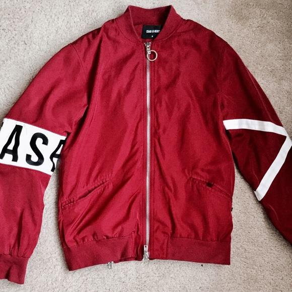 Cease desist cd1 bomber jacket burgundy poshmark cease desist cd 1 bomber jacket burgundy thecheapjerseys Choice Image