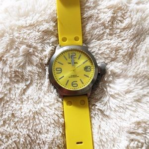 TW Steel Accessories - TW STEEL Canteen Yellow Dial Silicone Watch