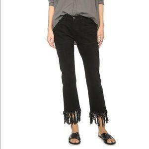 3x1 Black Fringe Jeans