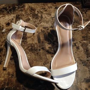 Nasty Gal Shoes - White Strappy Heel