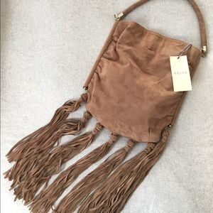 Reiss Handbags - NWT Brown Leather Suede Reiss Purse with Fringe