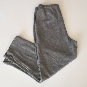 Quacker Factory Pants - Quacker Factory Cropped and Bedazzled Sweatpants