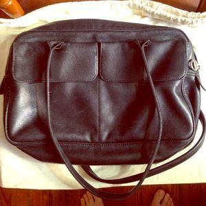 Vintage longchamp satchel soft black leather