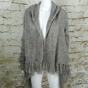 Bandolino Sweaters - Fringed hooded sweater