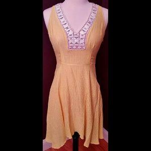 Plenty by Tracy Reese Yellow Silk Dress