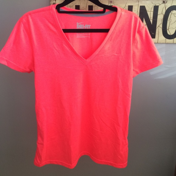 80% off Nike Tops - Nike Dri Fit Neon Pink T Shirt from Lauren's ...