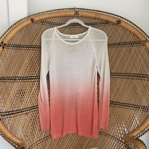 Millau Sweaters - Millau Ombré Pink and White Sweater