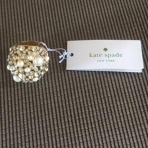 Kate Spade cream multi cocktail ring