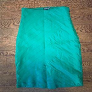 Kelley green Express pencil skirt size 00.