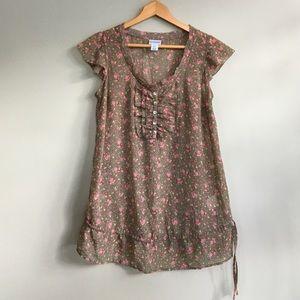 Motherhood Maternity Tops - Flowered maternity blouse
