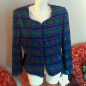 Adrianna Papell Tops - NWT Adrianna Papell Silk Blouse Top 14 Stripes