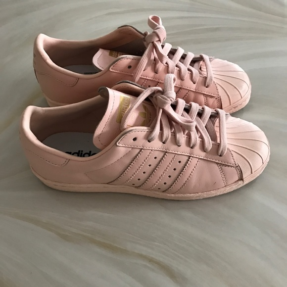 Adidas zapatos Light Pink Leather superestrellas poshmark