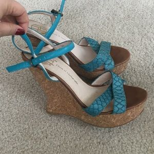House of Harlow 1960 Shoes - House of Harlow wedge sandals blue beige 7