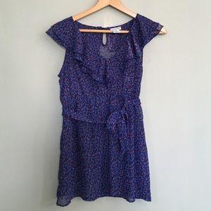 Motherhood Maternity Tops - Semi sheer blue flowered maternity blouse