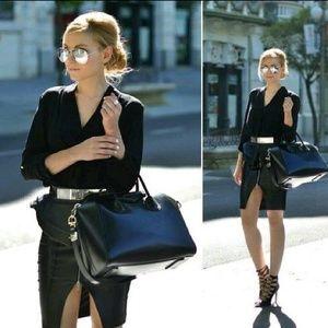 ✨HP✨ ZARA zipper front leather pencil skirt