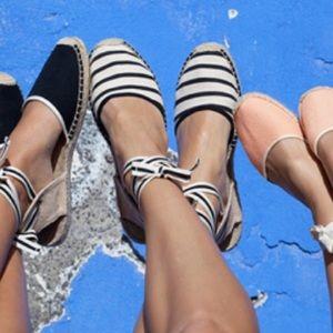 Soludos Shoes - Striped canvas espadrilles
