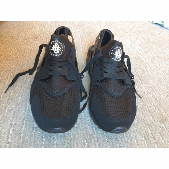 New Sadie Girls Nike Huarache Run Print Shoe: Grey Shoes (No