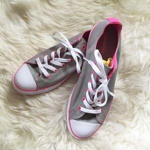 Converse Shoes - Converse All Star Gray Pink Chuck Taylor Sneakers