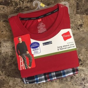 Hanes Other - ⏰Hanes Red & Blue Flannel Pant Sleepwear Set! NWT!