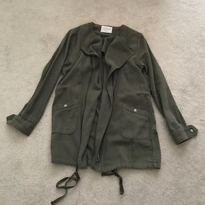 Velvet. Military Inspired Olive Green Jacket.