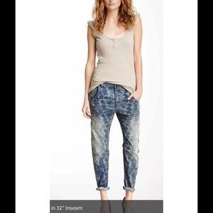 Maison Scotch Camo Boyfriend Straight Jeans 30