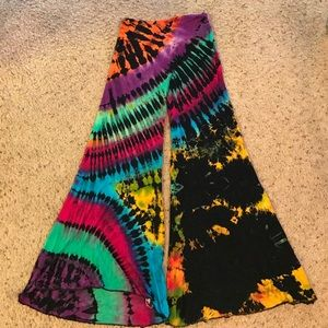 Pants - Tie dye flowy bell bottoms from Thailand