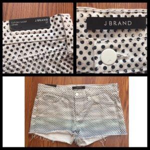J Brand Low Rise Ombré Dot Denim Shorts Size 27