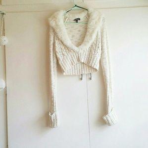 BEBE Sweaters - Rabbit Fur BEBE crop Sweater
