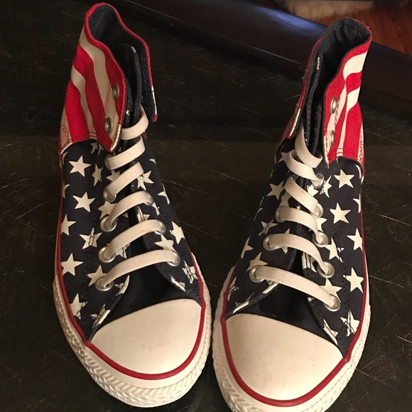 Sz4 Shoes Poshmark Red White Us Stars Blue Converse All 0gUx4wqU