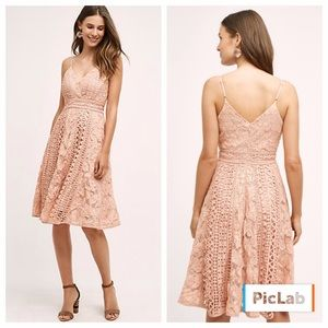 Anthropologie rose pink lace dress by HD in Paris