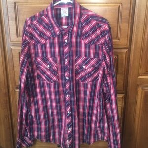 True Religion Other - Men's True Religion Red Plaid Buttondown Shirt XXL